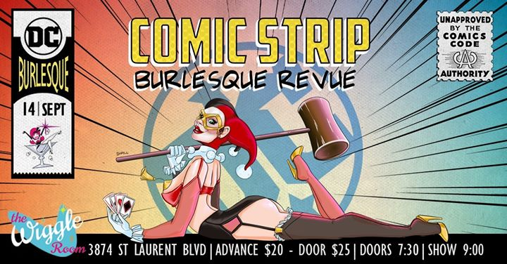 DC Comic Strip Burlesque Revue Banner